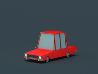 Low Poly Paykan
