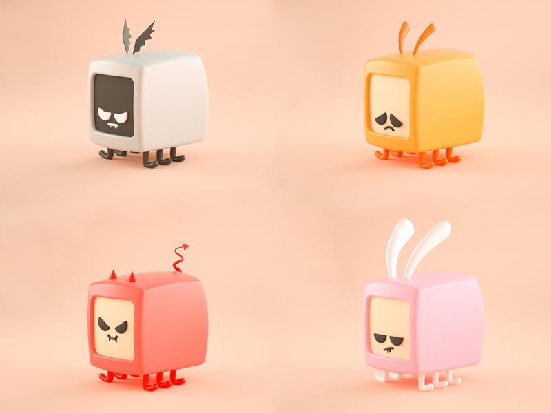Little Bugs bugs animals illustration low poly art low poly design render cinema 4d c4d 3d artist 3d art 3d