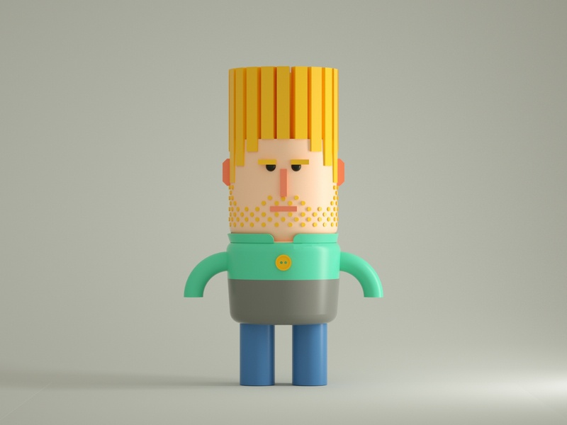 Paul man characterdesign character illustration low poly art low poly design render cinema 4d c4d 3d artist 3d art 3d
