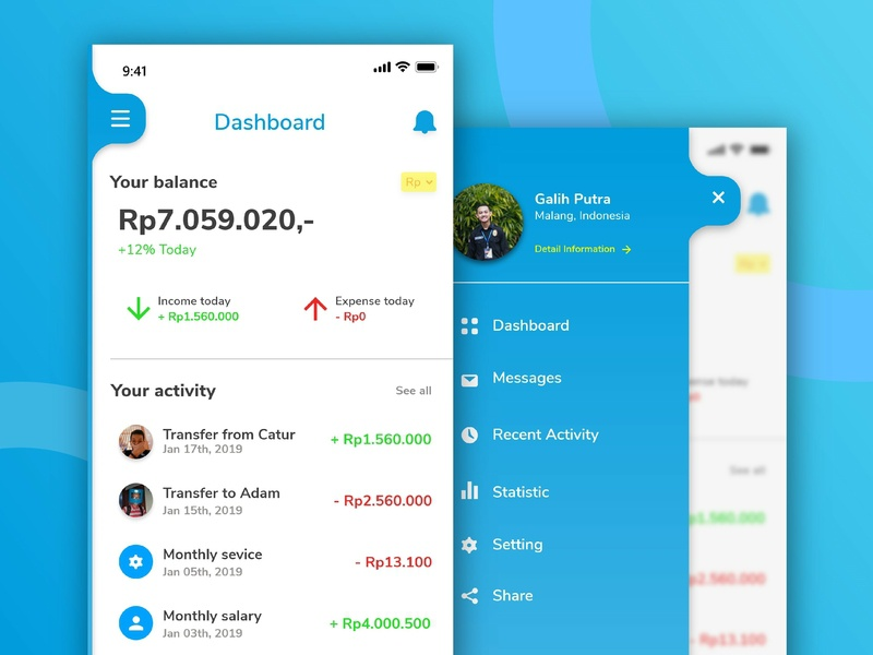 E-Wallet Apps branding exploration mobie clean ios wallet app app ux ui design flat