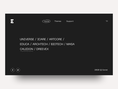 Personal Brand Home branding ui logo design theme portfolio menu creative minimal