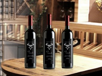 wine etiquette design