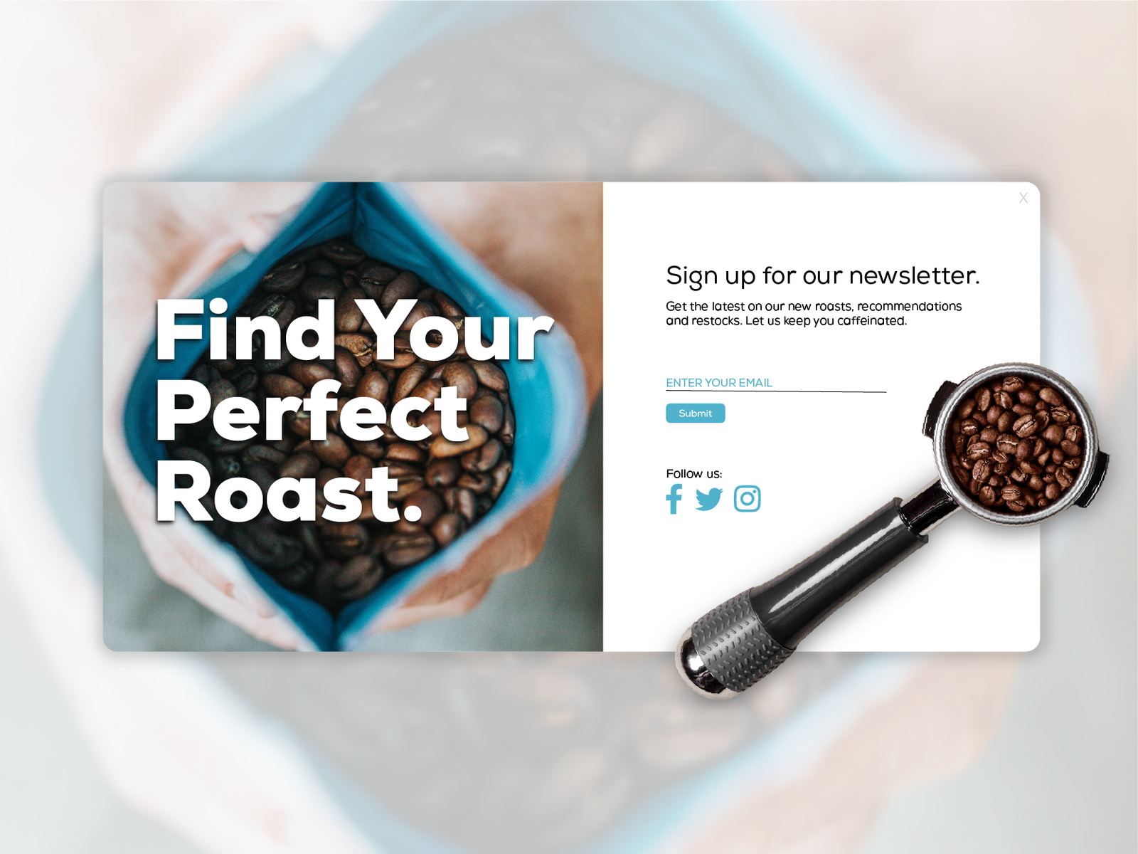 Coffee newletter sign up 4x
