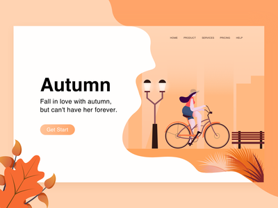 Autumn Bike autum ui 设计 插图
