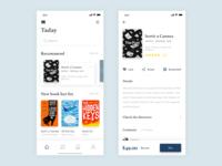 Reading App read book 设计 ui