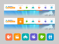 Dreamworks Create - navigation and icons