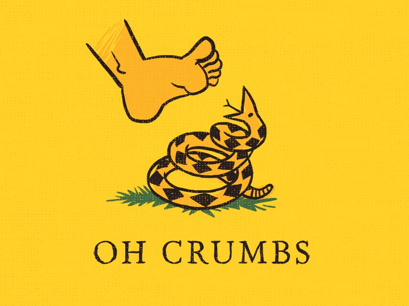 I specifically requested the opposite of this oh crumbs digital ink pencil gadsden sketch illustration flag snake