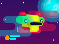 Colorful 🤖 Robotic 🦆 Duck in 🌌 space