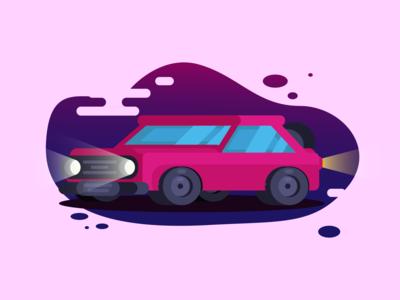 Old-Cyberpunk 🏎️ car