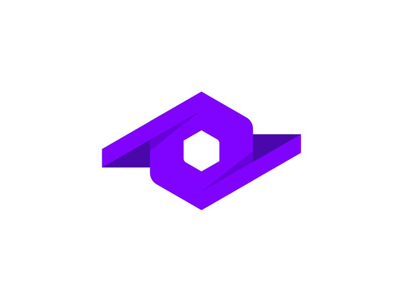 Abstract Polygon Logo Design icon vector illustration branding concept brand design brand identity purple polygon design branding logo abstract logo
