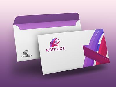 Kbridge Envelop Design stationary design k letter bridge branding design brand design brand identity stationary logo design branding