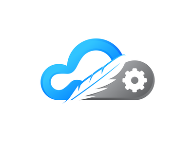 Soft Cloud Service Logo Design feather design brand design service cloud logo cloud brand identity logo design logo branding