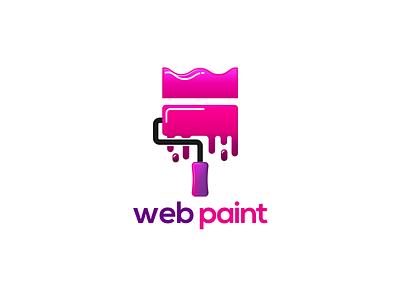 Web Paint Logo Design painting web color paint brush paint logo design design branding logo