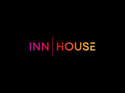 Inn House Logo Design restaurant inn house monogram emblem classic text typography branding logo