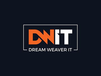 Dream Weaver IT brand identity it technology text classic weaver dream dwit minimal typography branding design logo