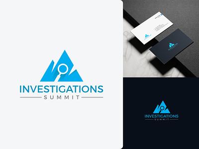 Investigations Summit Logo Design brand identity minimal summit search mountain branding design logo