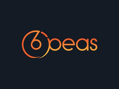 6peas Logo and Branding text design 6 typography logo typography branding logo