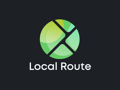 Local Route Logo Design gradient brand identity route apps map location branding logo