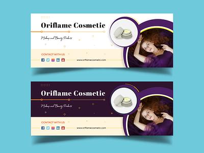 Facebook Cover Design for Cosmetic Brand graphic design beauty company beauty cosmetics facebook twitter cover twitter social media pack social media branding cover profile facebook cover