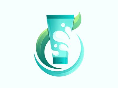Ocean Beauty Branding liquid logo illustration branding droplet raindrop splash dew purity drip water drop water soap face wash clean beauty cosmetic products facial skincare