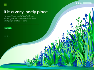 Lonely place natural illustration
