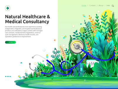 Natural Healthcare & Medical Consultancy Illustration