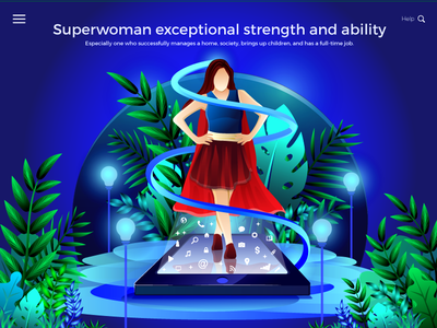 Exceptional Superwoman Illustration