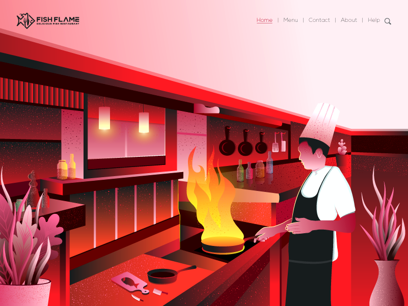Restaurant Illustration By Designs Raw On Dribbble