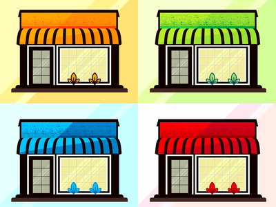 Storefront illustration for e-commerce