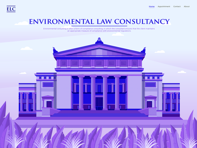 Court Of Appeals Building Landing Page Illustration