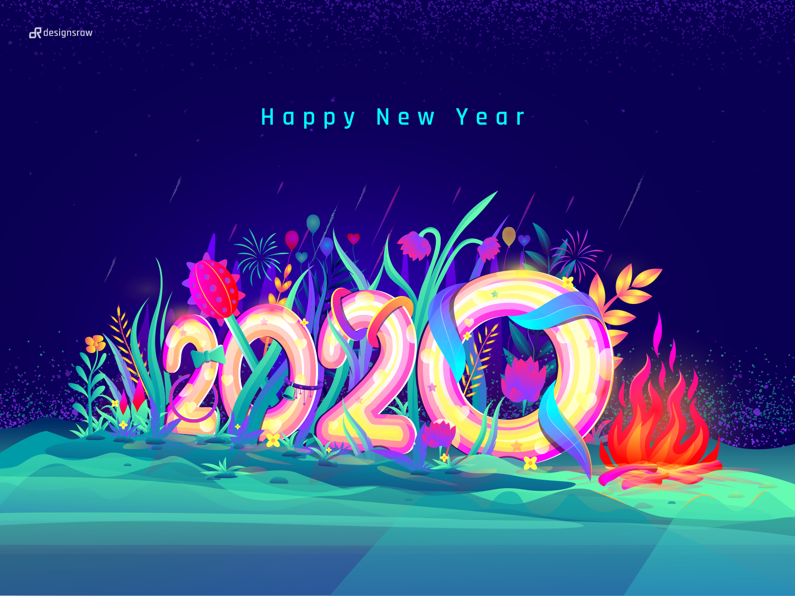 Happy New Year 2020 By Designsraw On Dribbble