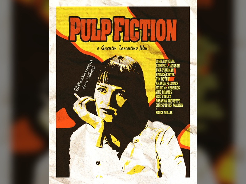 Pulp Fiction Poster visualart poster art photoshop digitalart design artistic artist arte art tarantino movie poster poster design film poster poster movie film pulp fiction