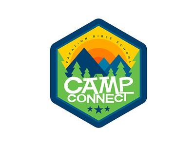 Camp Connect logo design design logo vacation bible school camp connect connect camp