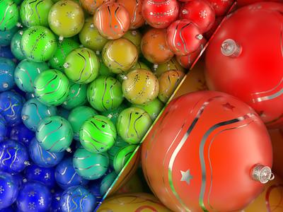 Playing With Christmas Balls abstract material 3d blender random balls christmas