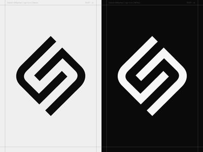 SN Monogram - Personal Logo Concept monogram simple icon white black brand identity personal concept logo anagram