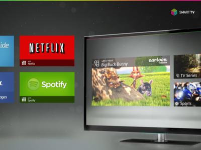 SmartTV Home Screen Concept television smarttv ui