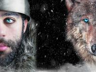 Viking and Wolf norse mythology norse self-portrait companion fineart portraiture animals wolf viking