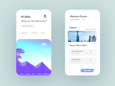 Android / IOS Travel APP Design hero free help screens fonts illustration clean beautiful most vector scratch trending new concept idea design app