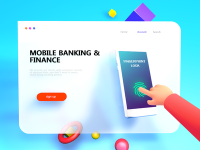 Web Illustration 3D Version UI UX recent populer free get trending latest solution bank mobile top best view look hand model new ux ui 3d webdesign