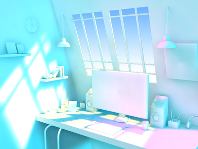 Workspace recent weekend friday scratch new macbook art model concept idea workspace 3d