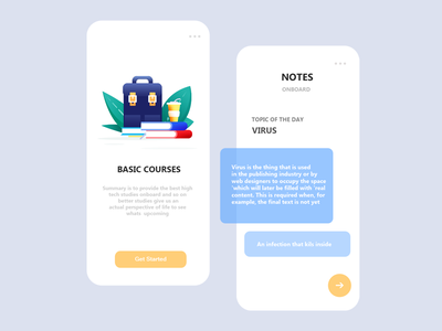 Mobile App | Online Courses wireframe buttons coffee books beg illustration free store trending work howto scratch concept new ux ui webdesign onlinecourses appdesign app