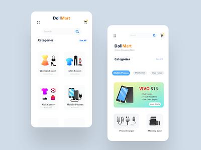 Store App Design | DollMart ui sell buy shop market mart phone top best most new photoshop vector scratch screen howto app concept idea app.design