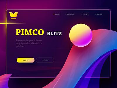 PIMCO GAME l WEB CONCEPT portfolio dribbble new colors art concept idea 2d 3d illustration uiux android download game website