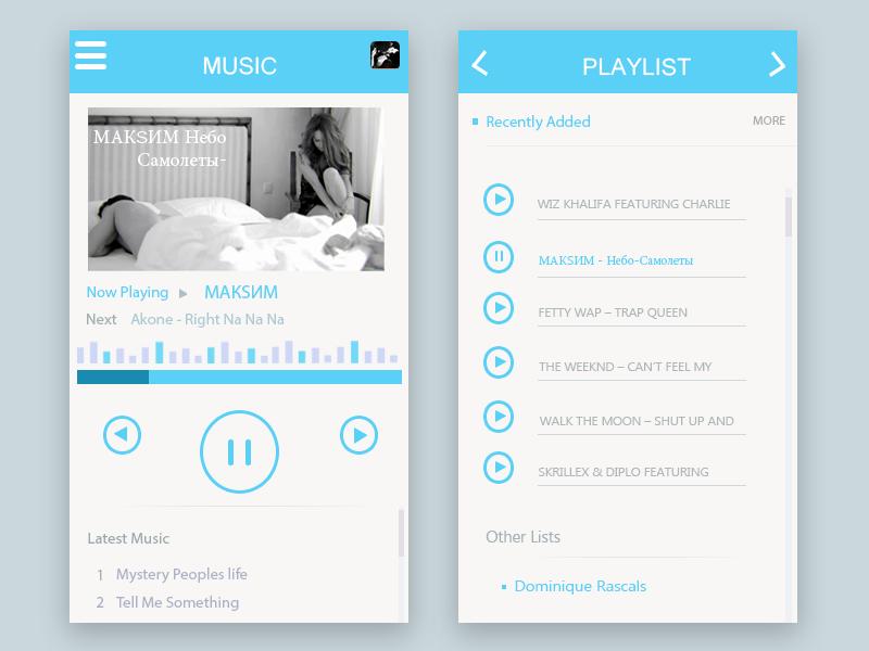 Music player buttons ux ui app music