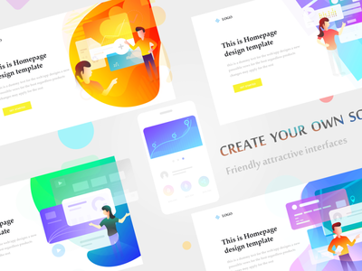 Modern Illustration UI Kit