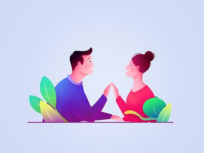 Illustration  3# Couples