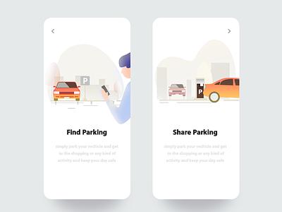 Parking App / Concept Illustration illustrator parking app character boy cars vector graphics best 2019 2020 latest new top parking illustration