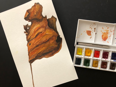 Leaf Watercolor Painting