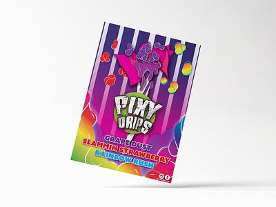Poster Illustration adobe illustrator sketchbook digital art pixysticks eliquid vape branding brand candy illustration print poster poster design