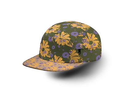 Floral Pattern Hat design wearables adobe photoshop graphic design illustrator adobe textiles vector digital apparel hat fall floral pattern